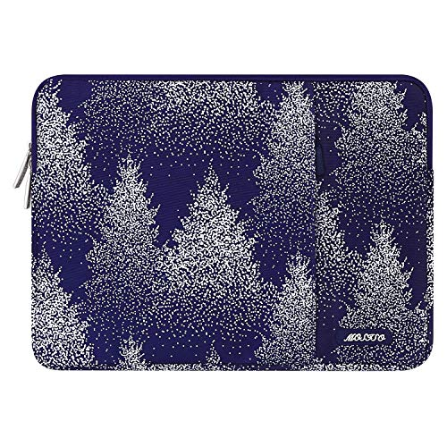MOSISO Laptop Sleeve Compatible with 13-13.3 inch MacBook Pro, MacBook Air, Notebook Computer, Water Repellent Polyester Vertical Carrying Case Cover Bag with Pocket, Christmas Tree Purple Base