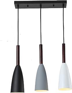 Isla de cocina antigua industrial 3 luces Lámparas colgantes de araña de metal, iluminación colgante ajustable industrial retro
