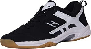 HINDON Black/White Badminton Shoes