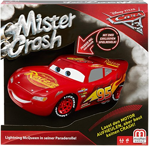 Mattel Games FFP69 Mister Crash, Kinderspiel geeignet für 2 - 6 Spieler, Spieldauer ca. 30 Minuten, ab 5 Jahren