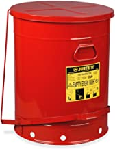 Just Rite Oily Waste Can, Foot-Operated, 21 Gal., 23-1/2