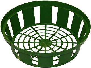 Bandeja para plantar bulbos de flores Xclou en verde, canasta para plantar cebolla de plástico con un diámetro de 21 cm en un juego de 3, tazones para plantar bulbos de flores, 3 canastas pa
