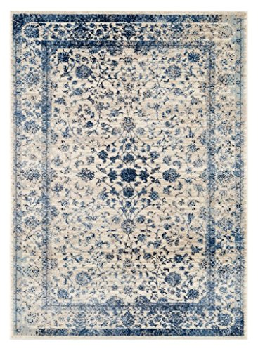 Persian-Rugs 2817 Distressed Ivory 8 x 10 Area Rug Carpet Large New