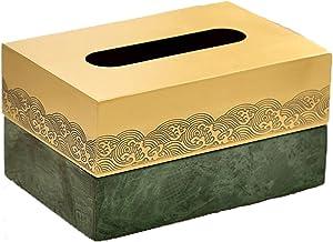 Deksel van tissuedoos Messing Tissue Box Tissue Box Cover Rechthoekige Tissue Dispenser Doos Houder for Dressoir Badkamer ...