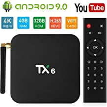 NewPal TV Box, TX6 Android 9.0 4G 32G Smart TV Box Support 2.4G/5G WiFi/BT4.2 Stream Media Player