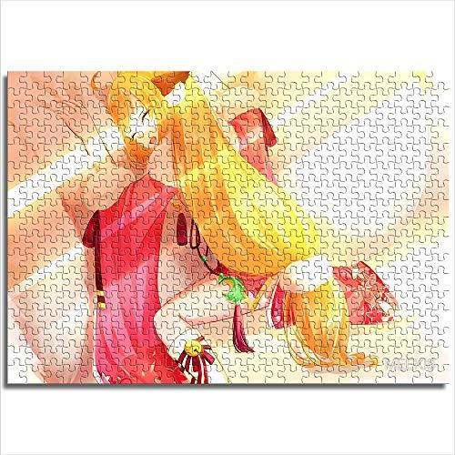 CAFO Puzzle de juguete para adultos y niños Fox Demon Little Matchmaker Tushan rojo imagen Mini 1000 piezas de papel rompecabezas