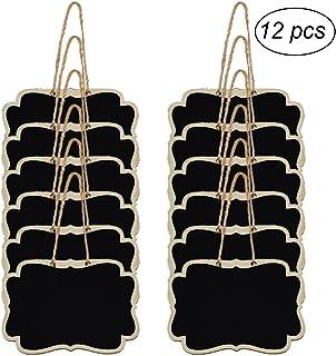 ROSENICE Mini Tableaux noir Rectanguilaire en bois Panneaux /à message 26 x 14cm