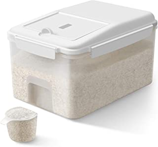 TBMax Airtight Food Storage Container with Wheels - 23 Lbs Rice Storage Bin with Measuring Cup, Cereal Container for Flour...