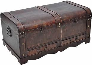 vidaXL Gran Cofre/Caja del Tesoro de Madera en Estilo Antiguo