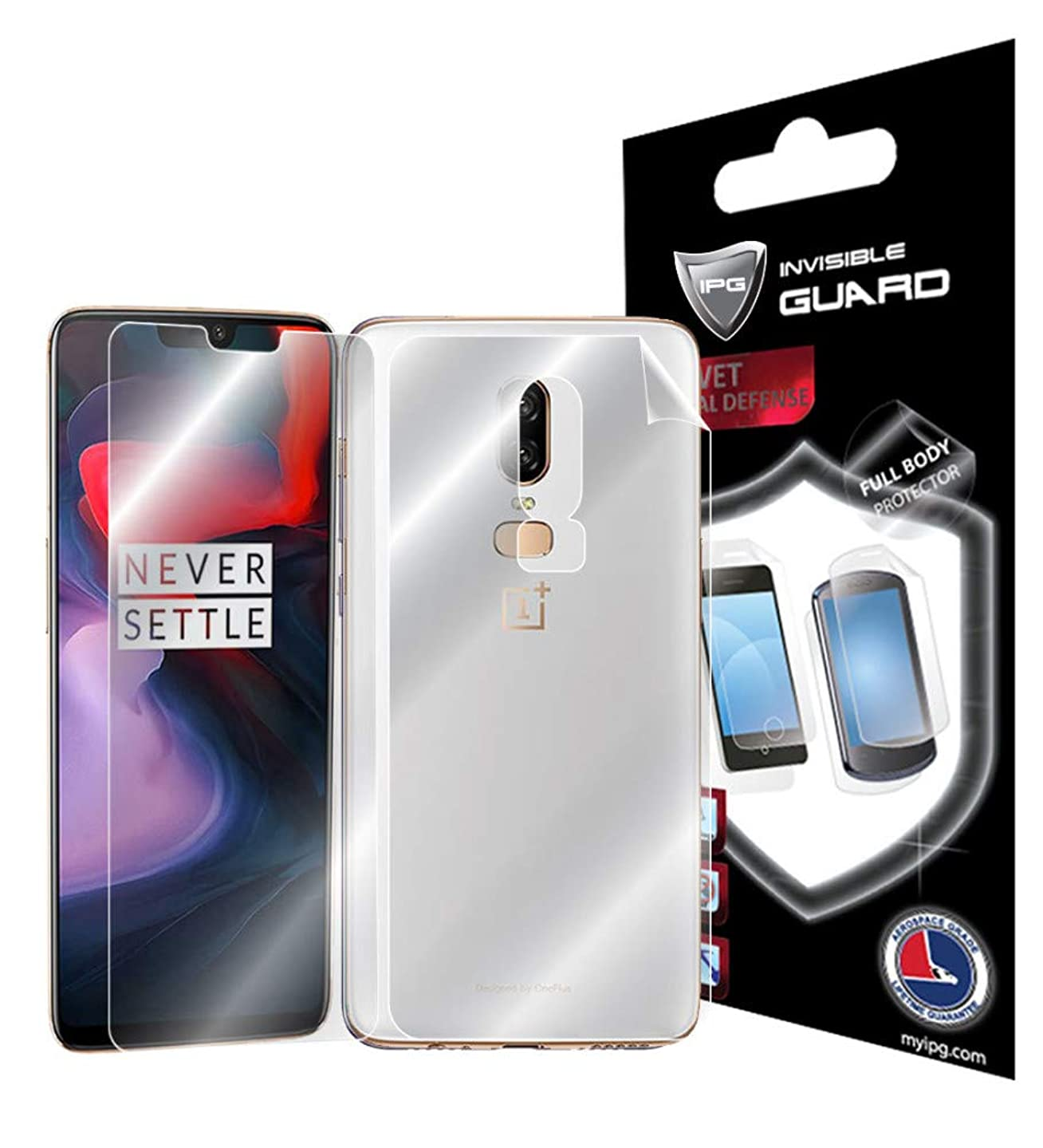 IPG for ONEPLUS 6 Full Body Protector Invisible Phone Cover Protector Ultra HD Clear Screen Film Skin Free Lifetime Replacement Warranty