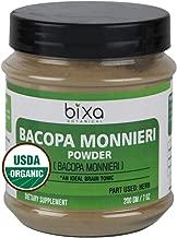 Organic Brahmi Powder USDA Certified - 200g (7 Oz), (Bacopa Monnieri/Brahmi Leaves) Ideal Brain Tonic   for Brain Vitality, Improve Intelligence & Focus   Herbal Supplement for Voice Quality