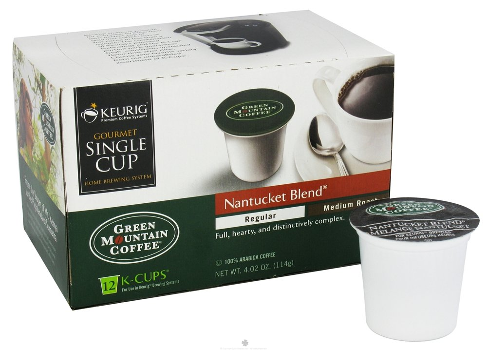 Green Los Angeles Mall Mountain Coffee Nantucket Super beauty product restock quality top Blend Medium K-Cup Roast Portion