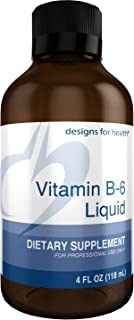 Designs for Health Vitamin B6 Liquid - 50mg P-5-P with Magnesium + Zinc (24 Servings / 4 Fluidoz)
