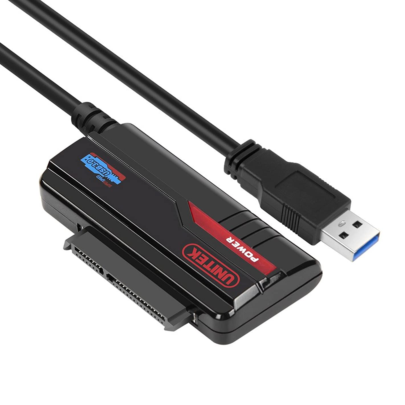 Unitek USB 3.0 to SSD/HDD / 2.5-Inch SATA III Hard Drive Adapter Cable- External Converter for SATA III Hard Drives, Support UASP [Power Adapter Not Included]