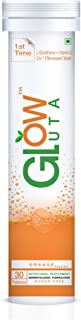 GlutaGlow 2 in 1 L-Glutathione 500mg with Vitamin C 1000mg 30 Effervescent Tablets 1 Month Pack Sugarfree Antioxidant Supp...