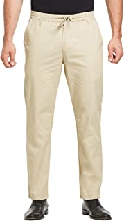 Tansozer Mens Casual Cotton Rugby Trousers with Elasticated Waist