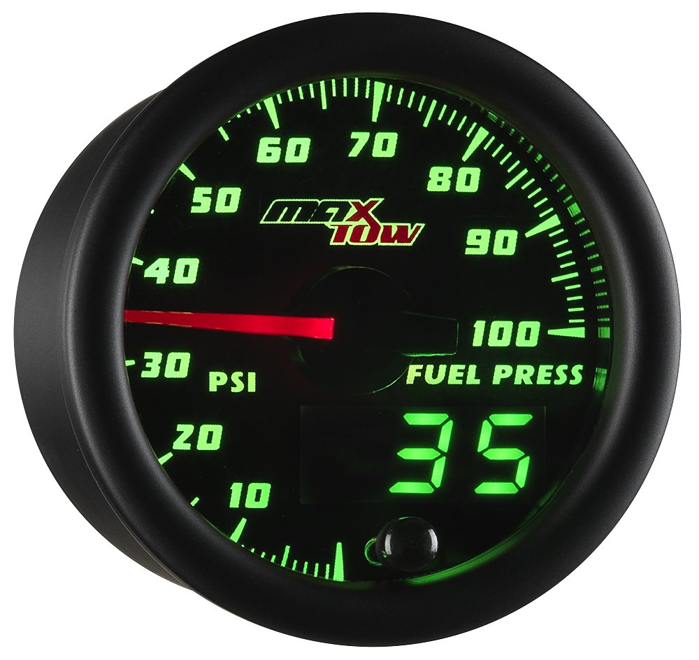 MaxTow Double Mesa Mall Vision 100 PSI Fuel Gauge Includes Kit - High order Pressure