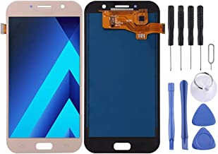 A720F/DS, A720FA, LCD Screen and Digitizer Entire Assembly (TFT Substantial) for Galaxy A7 (2017) For samsung Electronics & Photo (Color : Gold)