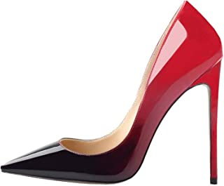 Fashion High Heels Pumps Sexy Women's Pointed Toe Slip On Stiletto Pumps Evening Party Basic Shoes Plus Size
