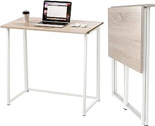 Dripex Mesa Escritorio Plegable, Mesa Ordenador, Compacto sin ensamblaje, Mesa de Estudio Plegable para Casa Oficina, Escr...