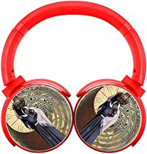 Lunar Eclipse in Leo for Mother's Love Wireless Headphones Bluetooth Over Ear Headphones Foldable Headset with Mic for Men and Women Travel Work TV PC Cellphone Red