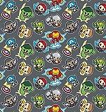 DC Comics Stoff – VISF254 DC Comics Heroes Kawaii Grey