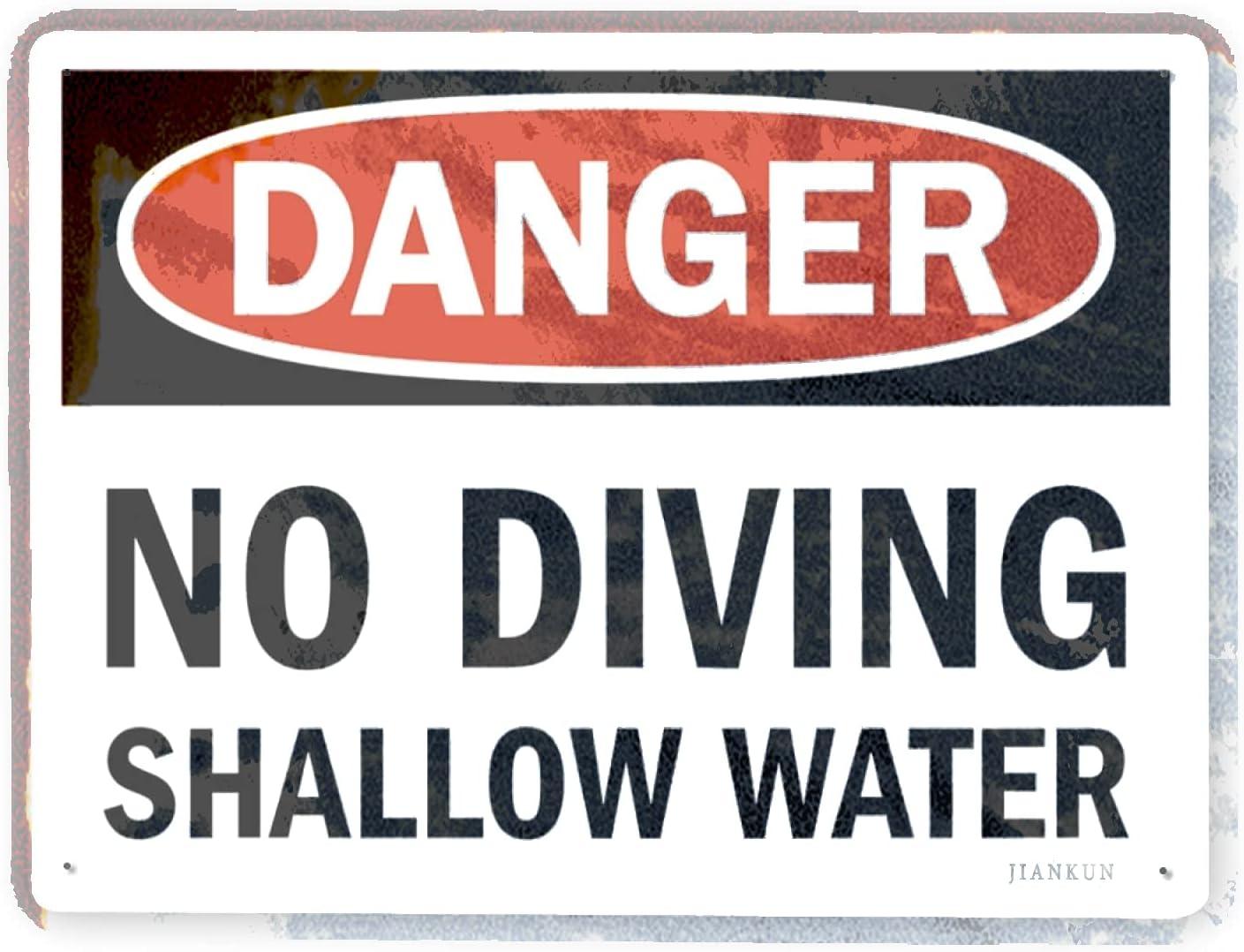 J.DXHYA Man Cave OFFicial site Decor 2 Pieces Divi Warning Sign No Max 81% OFF Danger
