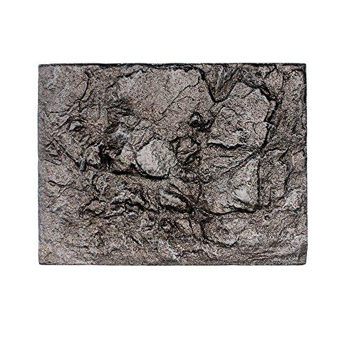 Indexp 3D Foam Aquarium Background Stickers, Ancient Fossil Rock Reptile Stone Pattern Fish Tank Board Backdrop Decor (Style E, 60x45x4cm)