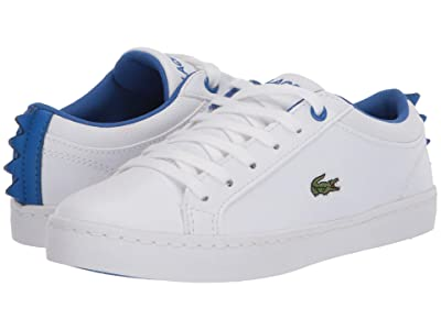 Lacoste Kids Straightset 120 1 CUC (Little Kid) (White/Blue) Kid