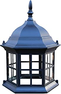Chesapeakecrafts Lawn Lighthouse Top. Replacement Top Assembly or Upgrade for Lawn Lighthouses. Powder Coated Black Cast Aluminum Lighthouse Top with Metal Grills and Real Glass Windows.