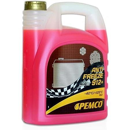 Pemco 2 X 5l Antifreeze 912 40 Kühlerfrostschutz Fertiggemisch G12 Rot Auto