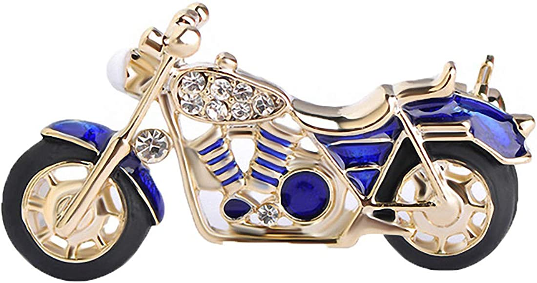 Jana Winkle Motorcycle Brooch Gold Red Enamel Brooches Suit Collar Sweater Brooches