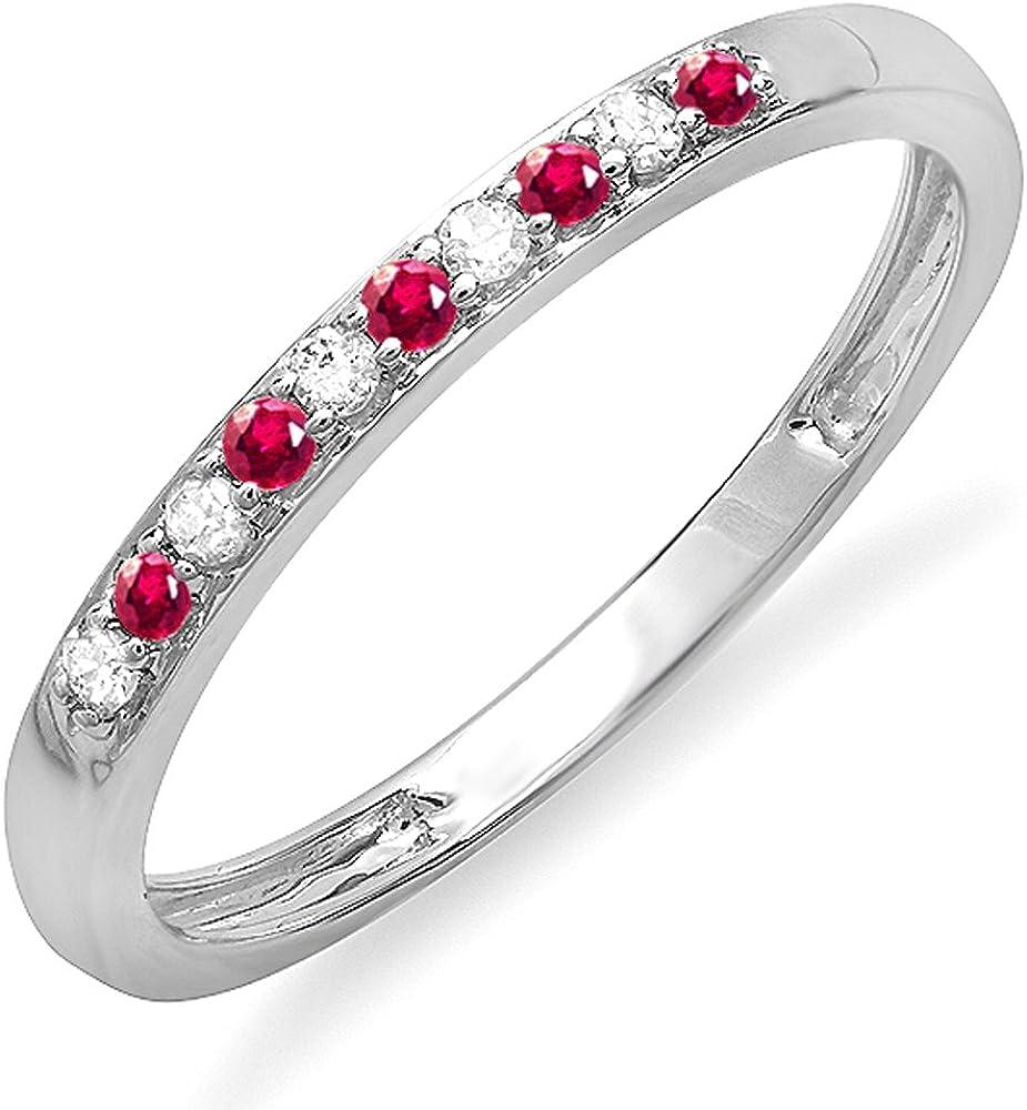 Dazzlingrock Collection 10k Round Ruby Miami Mall And White Sales Ladies Diamond