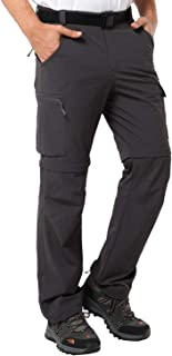 MIER Men's Convertible Pants Quick Dry Cargo Pants Lightweight Comfort Stretch for Hiking Travel