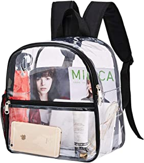 Clear Backpack Mini Stadium Approved, Cold-Resistant See Through Backpack, Water proof Transparent Backpack for Work, Security Travel, Concert & Sport Event