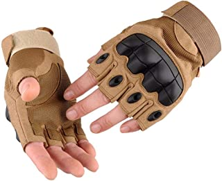 AIFEI Outdoor Motorcycle Sports Fingerless Half Finger Gloves for Camping Hiking Climbing Fishing Cycling Fitness Weightlifting Motorbike Heavy Work Mechanical Maintenance