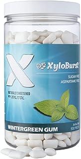 XyloBurst 100% Xylitol Wintergreen Gum 500 Count Jar, Natural Chewing Gum, Non GMO, Vegan, Aspartame Free, Sugar Free, Ket...