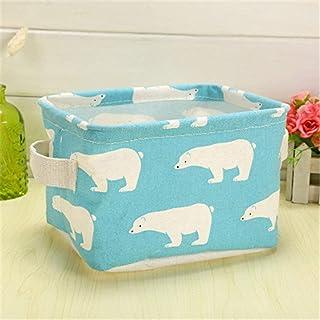 QAZS boîte de rangement panier de rangement en coton Portable petit panier de bain boîte de rangement de bureau panier de ...