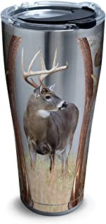 Tervis Deer Trio Stainless Steel Tumbler with Clear and Black Hammer Lid 30oz, Silver