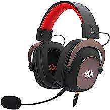 Headset Gamer Redragon Zeus 2 Preto e Vermelho P2 Com Microfone PC e Consoles PS4 / Xbox- H510-1