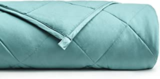YnM Cooling Weighted Blanket with 100% Bamboo Viscose | 15 lbs for 90-150 lbs Individual, 48