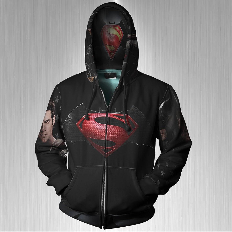 Superman Dc Superhero Dawn Of Justice Movie Art image Colection Fans Zipper Hoodie s3xl