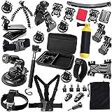 Phillosiya - Kit di accessori per fotocamera GoPro Hero 4 3+ 3 2 1, colore: nero/argento (Assortito)