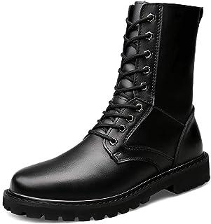 Heren Waterdichte Militaire Tactische Laarzen Zwart Lederen Combat Army Laarzen Duurzame Werklaarzen Hoge Top Wandelen Laa...