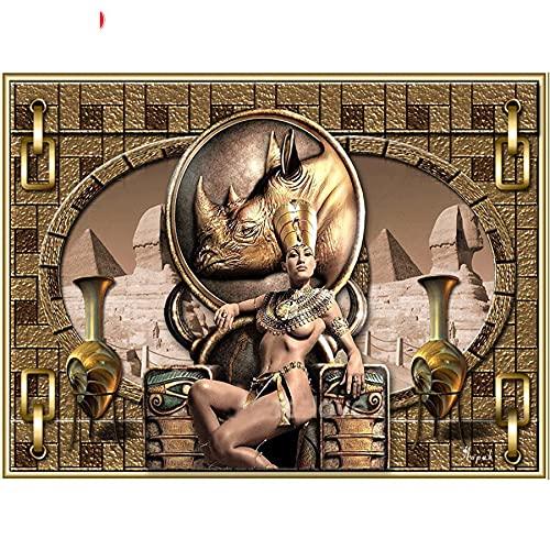 fancjj 1000 Piezas de Puzzle para Adultos/Paisaje de la Reina de Egipto / 50x75cm / Rompecabezas, Rompecabezas de Madera de 1000 Piezas, Juguete para niños, Juego Educativo