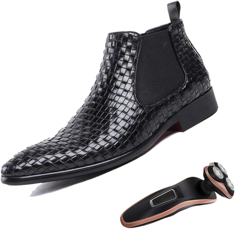 LZMEG Preparat Mans Business skor High High High Help Martin Boots Chelsea Points Andable Gentleman Party Vuxen svart  70% rabatt