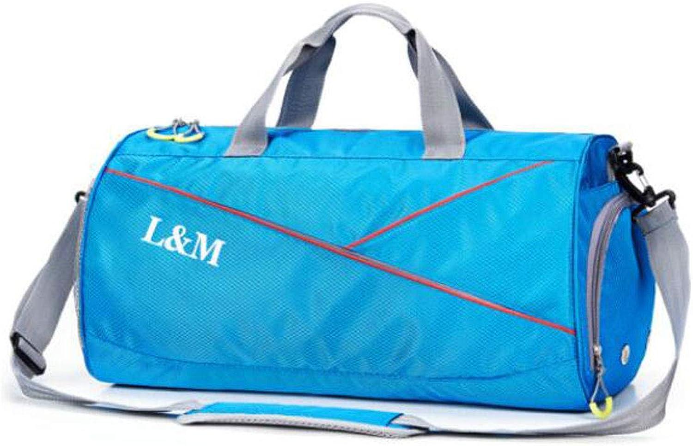 Jiansheng Fitness Bag, Wet and Dry Separation LargeCapacity Travel Bag, Male Outdoor Training Bag, Black Size  50  25  26cm Beautiful
