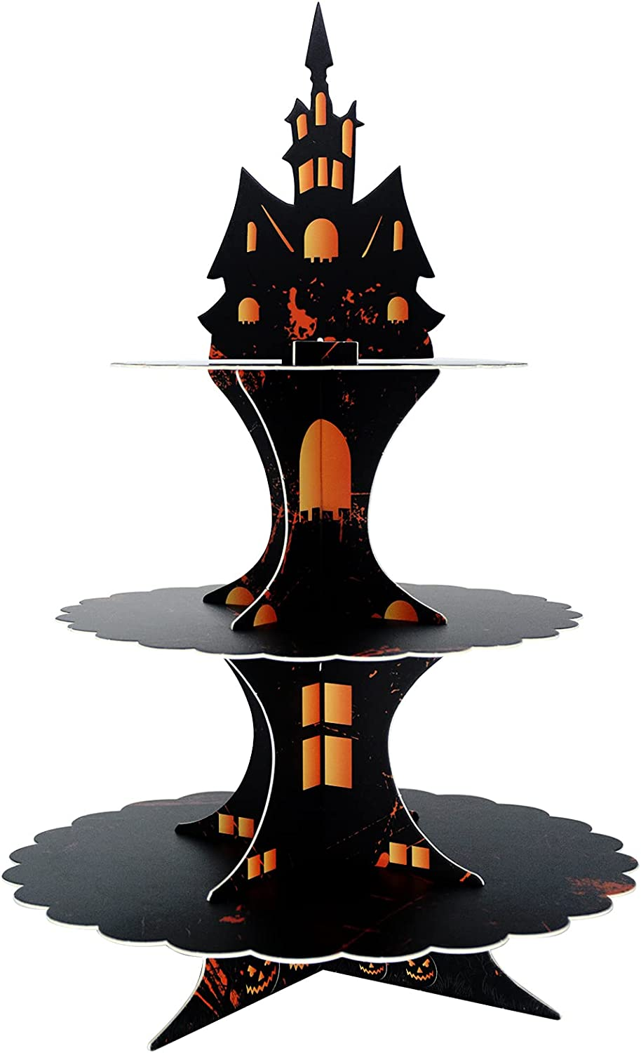 Halloween Supplies 3 Tier Cupcake Stand Cardboard Cake Stand Tower Party Decorations