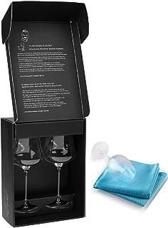Bundle - 2 items: Gabriel-Glas - Set of 2 - Mouth-Blown Austrian Crystal Wine Glass - Gold Edition, Wine Enthusiast Microfiber Wine Glass Towel