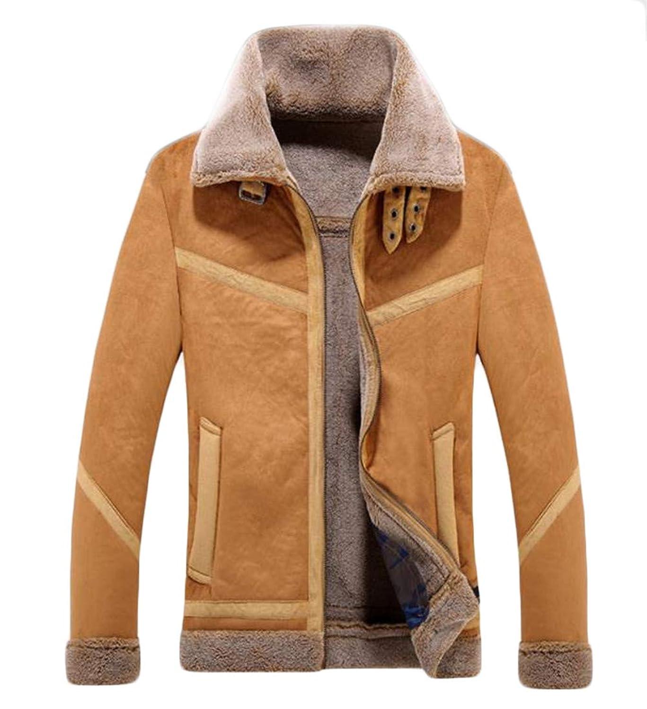 (ジャンーウェ)ムートンジャケット ボア ブルゾン 大きいサイズ メンズ コート 秋冬 もこもこ襟 タートルネック 暖かい おしゃれ 通勤